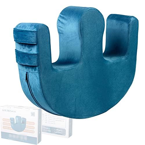 XUNN Dispositivo per Girare Il Paziente, Prodotti per La Cura del Letto Girevole in Flanella Multifunzionale, Cuscino per Piaghe da Decubito, Cuscino A Forma di U per Gli Anziani