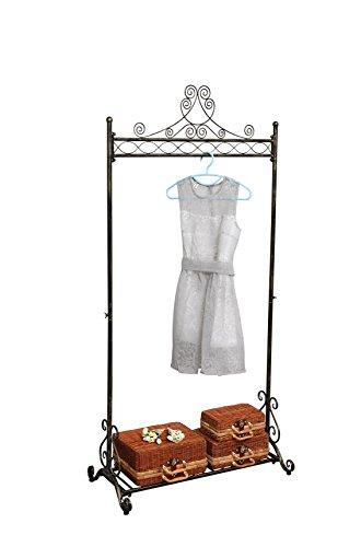 NEUN WELTEN Kleiderständer Vintage Design Kleiderstange aus Metall Garderobenständer (Bronze)