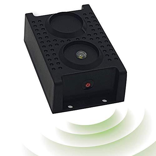 ISOTRONIC Repellente per martora con luce flash a LED   Deterrente a ultrasuoni per scacciare martore, faine, topi e ratti   Protezione contro martore   Ideale per gli interni, casa, garage e soffitto