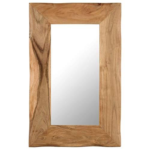 vidaXL Madera Maciza de Acacia Espejo para Maquillaje 50x80cm Decoración Hogar