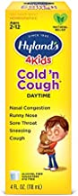 Cold Medicine for Kids Ages 2+ by Hylands, Cold and Cough 4 Kids Daytime, Cough Syrup Medicine for Kids, Decongestant, Allergy and Common Cold Symptom Relief, 4 Fl Oz Each