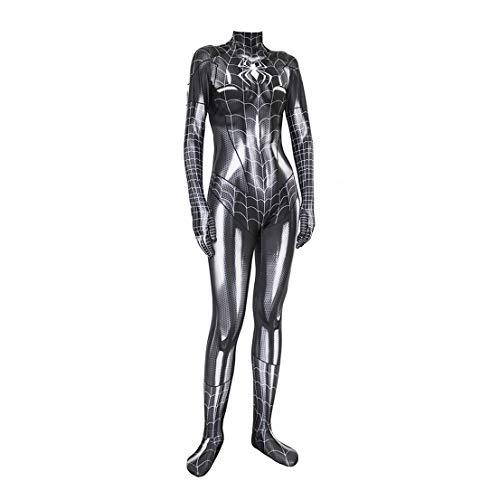 MODRYER Femme Spiderman Cosplay Costume MJ Femme Chat Noir Jumpsuit Halloween Déguisements Enfants Adultes Bodysuit Film Fans Habillement Spiderwoman Attire,Adult/L/(165~170cm)