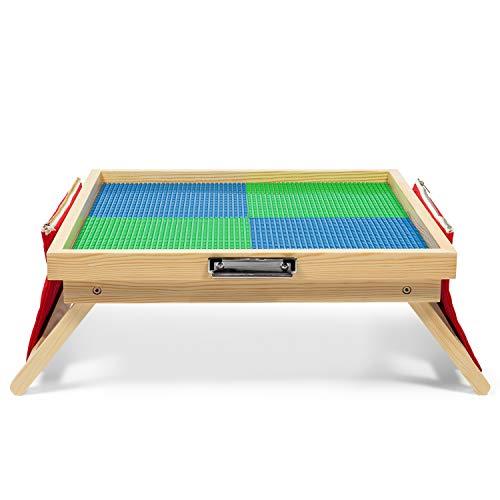 Large Foldable Building Block Kids Activity Table - Includes Storage Bag Accessories