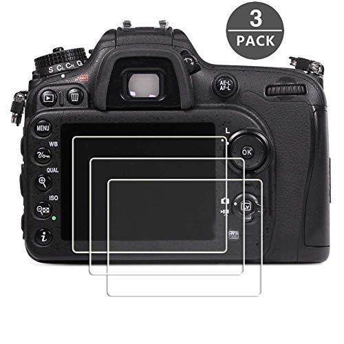 Displayschutzfolie für Nikon D7100 D7200 D800 D800e D810 D750 D600 D610 D500 Kamera, masstimo 3 Pack gehärtetem Glas LCD Display Schutz Guard für Nikon DSLR-Kamera