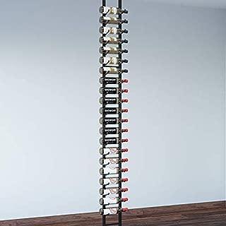 VintageView Floor-to-Ceiling Frames Series-Floating 21 Bottle Wall Mounted Wine Bottle Rack (Satin Black) Stylish Modern Wine Storage with Label Forward Design
