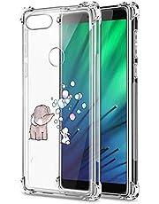 Suhctup Funda Transparent Compatible para Xiaomi Mi CC9E/A3,Carcasa Protectora [Antigolpes] Suave Silicona TPU Bumper Cojín de Aire de Cuatro Esquinas Protector Gel para Mi CC9E/A3,A9