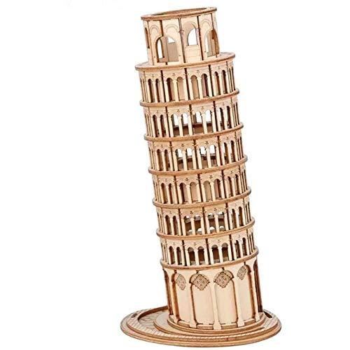 HOLZMODELL-Kits FÜR Erwachsene UND Jugendliche, BAUKITS - 3D-Puzzles-Erwachsenen-Handwerk-Kits, Leaning Tower of PISA