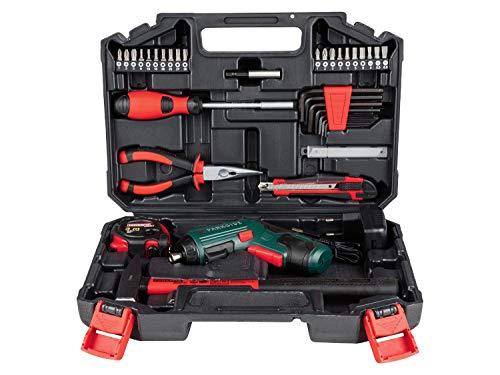 Werkzeugkoffer mit Akkuschrauber 47 Tlg. Werkzeugkasten Werkzeugkiste Werkzeug