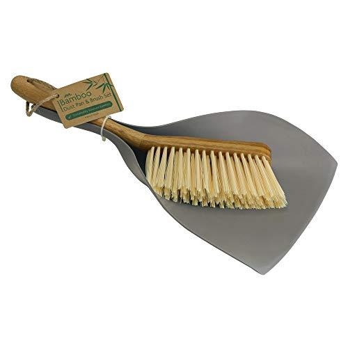 JVL Set di spazzole e Paletta in bambù