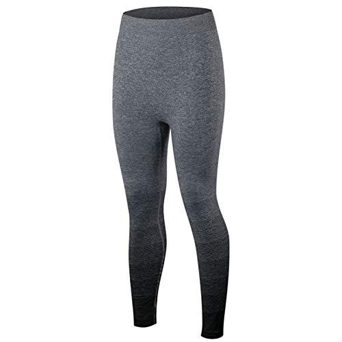 Leggings Mujer Mallas De Deporte,Negro Gradiente Diseño De Alta Cintura Tummy Control Ajustado Pantalones Suave Cómodo Elástico Pantalones Para Deportes Fitness Entrenamiento Entrenamiento Gym Sud