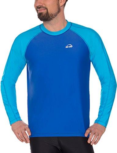 iQ-UV Herren UV 300 Shirt Loose Fit LS T, Hawaii-Blue, 3XL (58)