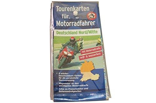 Tourenkarte für Motorradfahrer Deutschland Nord / Mitte