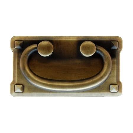 Large Horizontal Antique Brass Mission Drawer Pull | Antique Dresser Drawer, Cabinet Door, Desk | Furniture Hardware | PM-201