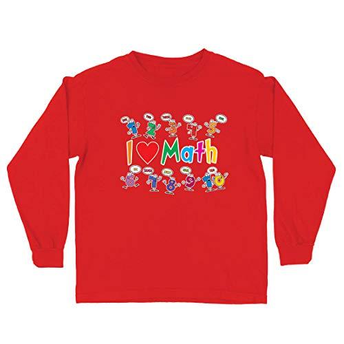 lepni.me Camiseta para Niño/Niña Amo Las matemáticas, el Regalo Educativo de Regreso a la Escuela o la graduación (12-13 Years Rojo Multicolor)
