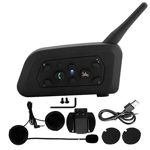 Headerbs V6-1200 Casco de Motocicleta Intercomunicador inalámbrico Bluetooth Auriculares Manos Libres Intercomunicador de Motocicleta Casco Bluetooth Auriculares para 6 Personas