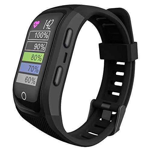 SULUO Reloj Inteligente Deportivo, GPS, Impermeable, IP68, monitorización del Ritmo cardíaco, recordatorio sedentario, Pulsera Deportiva al Aire Libre para Hombres y Mujeres