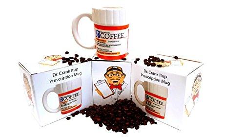 Funny Doctors' Prescription Coffee Mug, Funny Gag Gift - 12 Ounce Coffee or Tea Cup