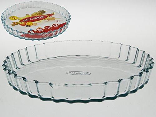 Arcuisine Borosilicate Glass Pie/Tart/Flan Dish 10.65 Inches (27 Centimeters)