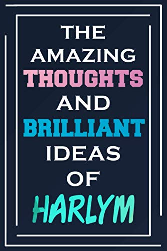 The Amazing Thoughts And Brilliant Ideas Of Harlym: Personalized Name Journal for Harlym | Composition Notebook | Diary | Gradient Color | Glossy Cover | 108 Ruled Sheets