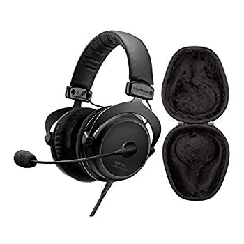 beyerdynamic MMX 300 2nd Generation Premium Gaming Headset  in-line Volume Remote mic Detachable Cable  with Knox Gear Hard Shell Headphone Case Bundle  2 Items