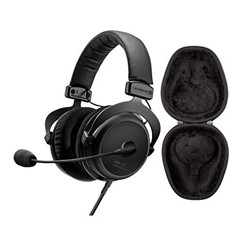 beyerdynamic MMX 300 2nd Generation Premium Gaming Headset (in-line Volume Remote, mic, Detachable Cable) with Knox Gear Hard Shell Headphone Case Bundle (2 Items)