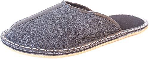 Barja - Cómodas zapatillas de ir por casa de fieltro en dos versiones, color Negro, talla 46 EU