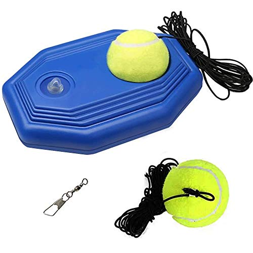 SIEBIRD Tennis Trainer Rebound Ball  Single Player Tennis Trainer Equipment with Elastic Ropes amp 2 Training Balls  Portable Solo Exercise Baseboard for Beginners/Kids/Adults#039 SelfStudy Practice