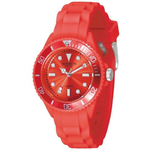 Madison New York Unisex-Armbanduhr Candy Time Mini Analog Silikon L4167-11/3