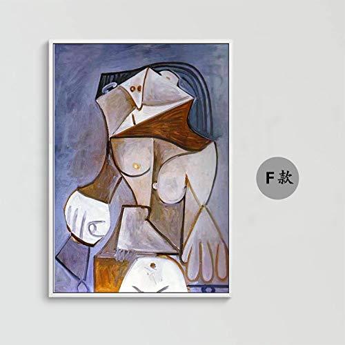 Pintura Al Óleo Pintada A Mano Sobre Lienzo,Abstract Nude La Figura De Picasso,Gran Tamaño De Réplicas De Arte Moderno Pintura Mural Adorno Ilustraciones Para Salón Pasillo Entrada Dormitorio,36