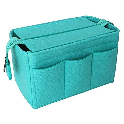 Sacs de maquillage en feutre organisateur insérer sac pour sac à main voyage sac à main portable25x16x14.5cm / 34x20x14.5cm-Light_Green_34x20x14.5cm