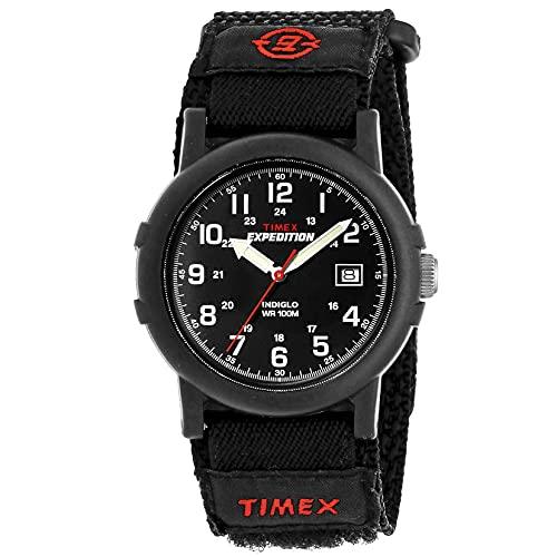 Timex Expedition T40011 Orologio Analogico da Polso da Uomo, Tessuto, Nero/Nero