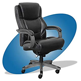 La-Z-Boy Delano Big & Tall Executive Office Chair | High Back Ergonomic Lumbar Support, Bonded Leather, Black with Weathered Gray Wood | (B07CJ2HYCS) | Amazon price tracker / tracking, Amazon price history charts, Amazon price watches, Amazon price drop alerts
