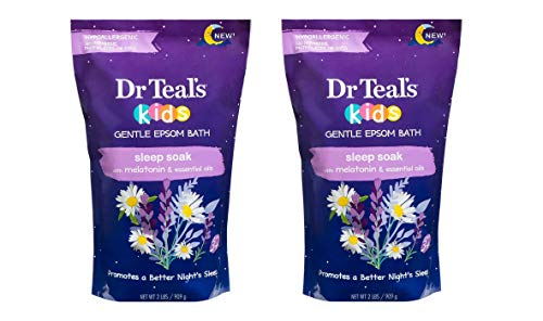 Dr Teal's Kids Gentle Epsom Salt Bath - Lavender - 2 lb Bags Pack of 2