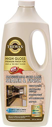 Trewax Professional Gold Label Sealer Wax Gloss Finish, 32-Ounce -  887135027