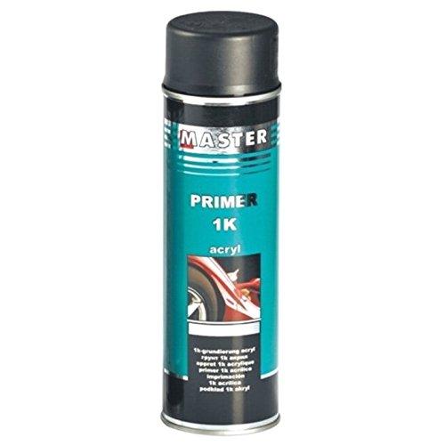 Troton 1K Primer 500ml GRUNDIERUNG Spray ACRYL FÜLLER HAFTGRUND Auto Primer Sprühdose (Schwarz, 1)
