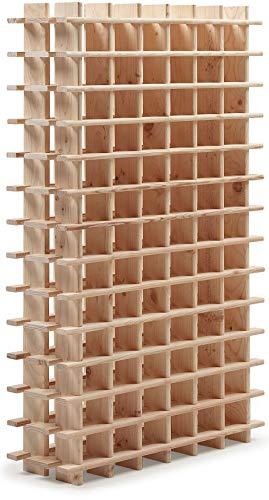 Système d'étagères modulaires à vin PRIMAVINO en pin naturel, empilable / extensible