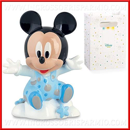 Venta AL por mayor y ahorro de reducción firmada Disney con diseño Mickey Mouse Celeste de pelo, bomboneras bautizo, DE tarta De Boda Cumpleaños Niño, incluye caja de regalo