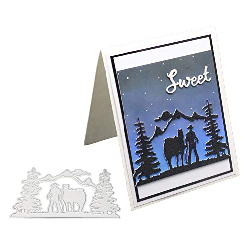 Dyyicun12 Kerstboom Bos Snijden Dies, DIY Scrapbook Emboss Papier Kaart Maken Craft Decor