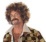 Disco Dirt Bag Wig & Moustache Costume Accessory