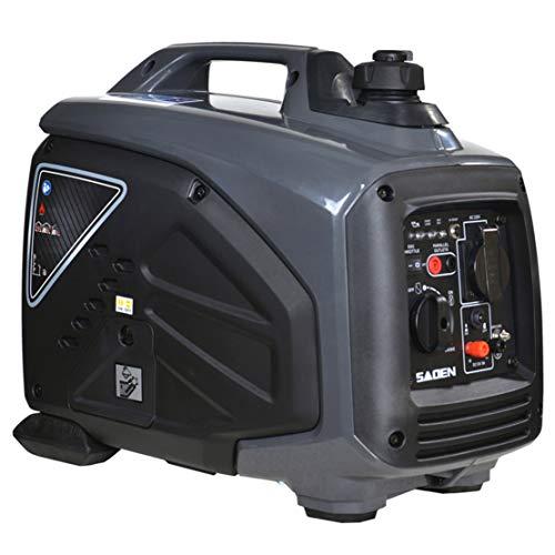 HIOD Generador de Inversor 1000w 1kva Generador de Gasolina Silencioso, Generador de Emergencia, Generador Portátil para Casa Cámping Emergencia