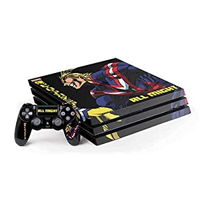 Skinit Decal Gaming Skin for PS4 Pro Console and Controller Bundle - Officially Licensed Funimation All Might Ready for Battle Design