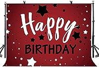 大人のパーティーのための新しい10x7ftお誕生日おめでとう背景星の装飾写真の背景ベビーシャワーの誕生日パーティーのバナー写真ブースの小道具266