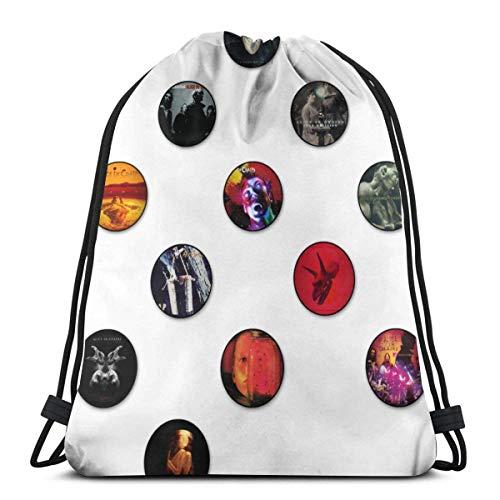 Elegante mochila escolar universitaria, mochila para mujeres, niñas, negocios, viajes, lindo gráfico Alice en cadenas, con cordón, bolsa de gimnasio