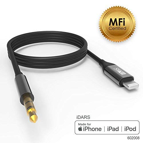 promo code ac6f7 7225f iDARS Lightning AUX Cord, Apple MFi Certified Lightning Audio Cable,  Compatible with iPhone for Car Stereo/Home Entertainment/Headphones/Speaker  ...