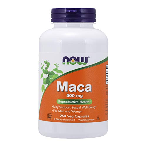 Now Foods 500 mg cápsulas de MACA – Pack de 250 Cápsulas