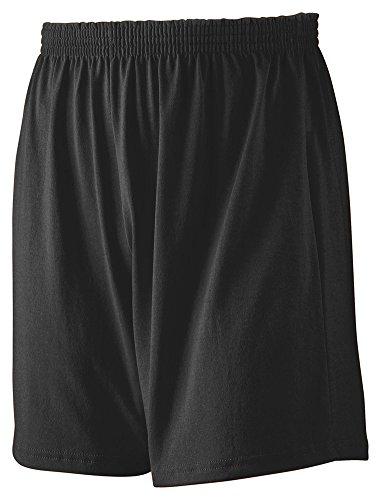 Augusta Sportswear Youth Jersey Knit Short, Medium, Black