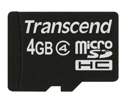 Transcend TS4GUSDC4 Micro SDHC 4GB Class 4 Speicherkarte Schwarz