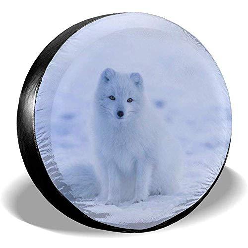 BUXI Printing Tire Cover,Arctic Fox Protective Wheel Reifenabdeckungen Für Jeep Vehicle Wheel 60-69cm