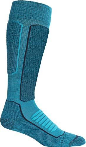 Icebreaker Siren Arena - Sujetador para mujer, color negro y nieve, Ski+ - Calcetines de lana de merino (tamaño mediano), Mujer, color Verde azulado/Azul marino medianoche., tamaño small