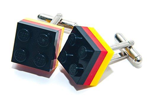 Lego Allemagne boutons de manchette Olympiques Country Drapeau Football